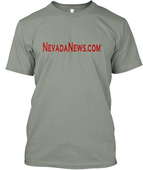 Nevadanews.Com®  T Shirt Grey T-Shirt Front