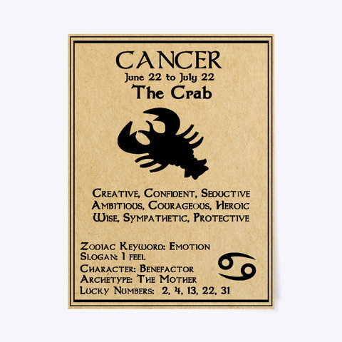 Cancer Zodiac Birthday Gift The Crab White T Shirt Front