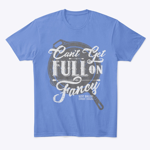 Can't Get Full On Fancy Heathered Royal  T-Shirt Front