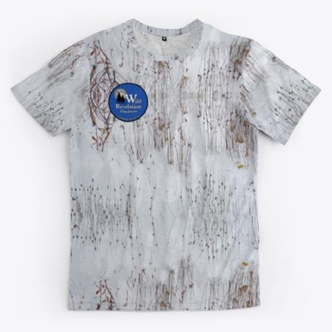 Snow Camo Unisex Jersey Standard T-Shirt Front