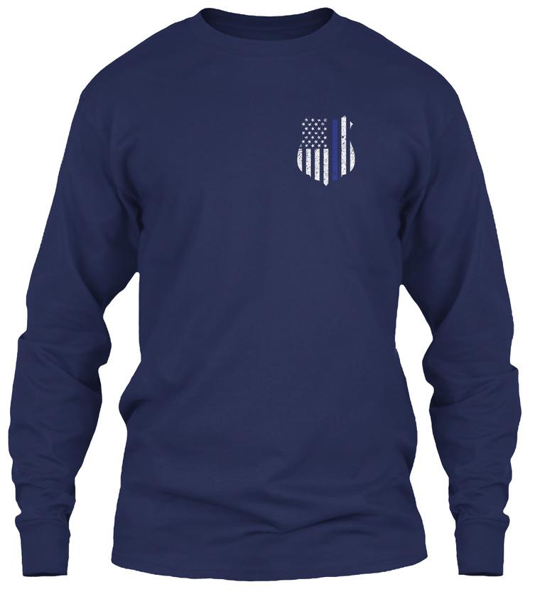 Thin-Blue-Line-Exclusive-Gildan-Long-Sleeve-Tee-T-Shirt thumbnail 8