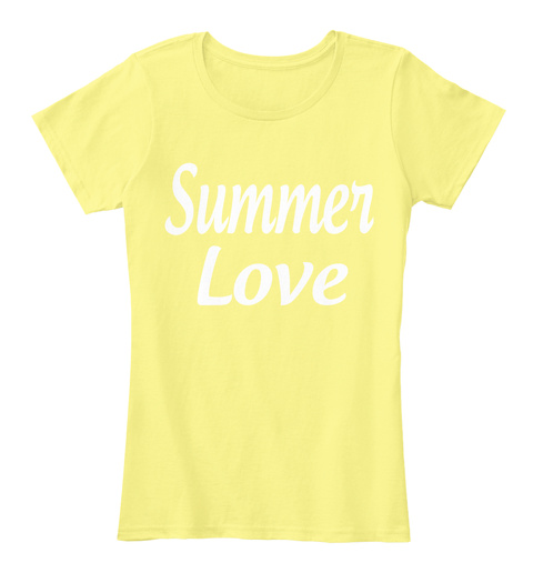 Summer Love Lemon Yellow T-Shirt Front