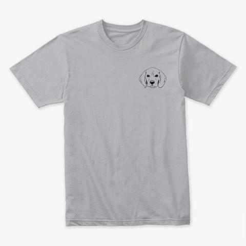 Beagle Art Heather Grey T-Shirt Front