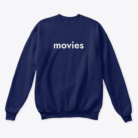 Movies Sweatshirt   Navy Navy  T-Shirt Front
