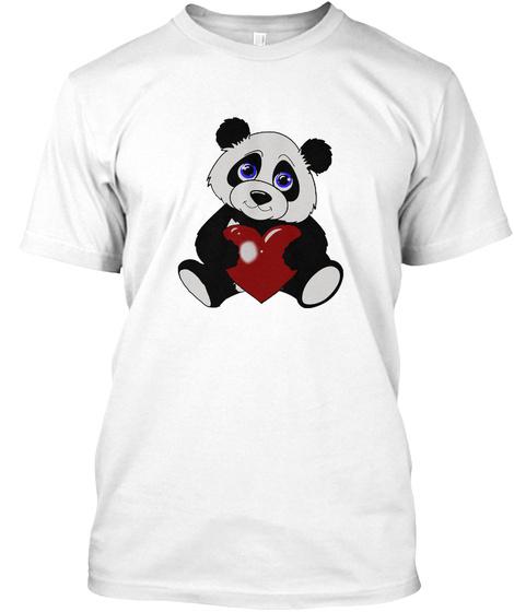 Panda Love White T-Shirt Front
