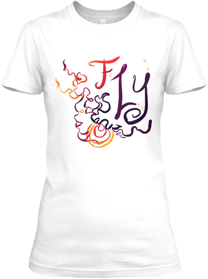 Fly White T-Shirt Front