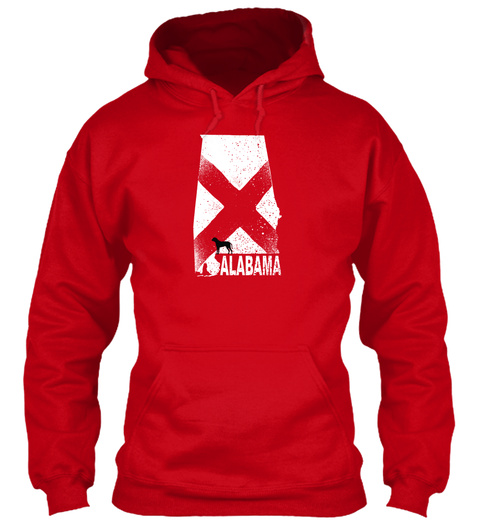 Alabama   Hoodies Red T-Shirt Front