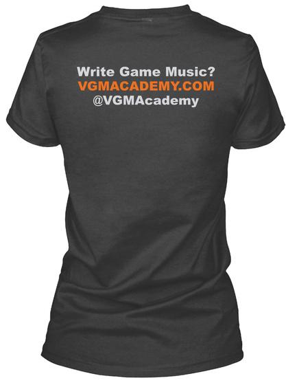 Vgm Academy: Women's V Neck Fitted T! Dark Grey Heather T-Shirt Back