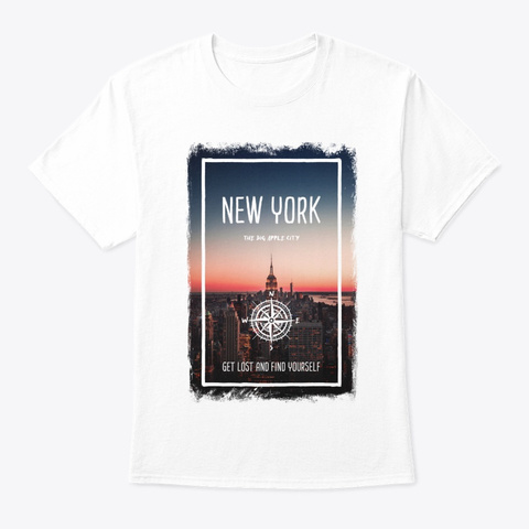 New York, United States, The Big Apple White T-Shirt Front