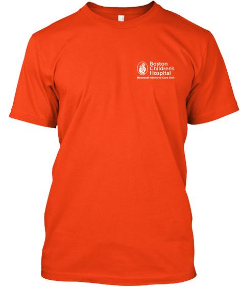 Boston Children's Hospital Deep Orange  T-Shirt Front