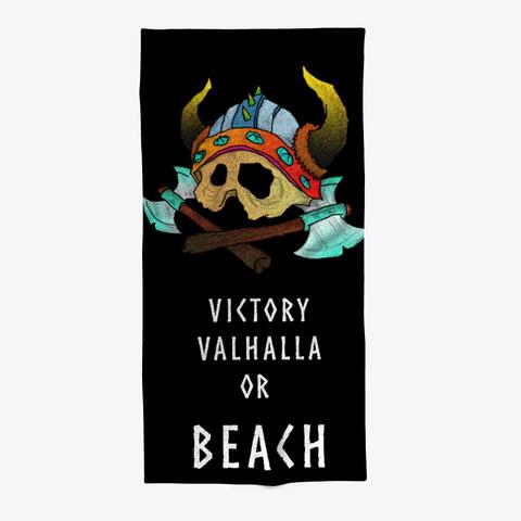 Viking Valhalla Holiday Beach Towel Black T-Shirt Front