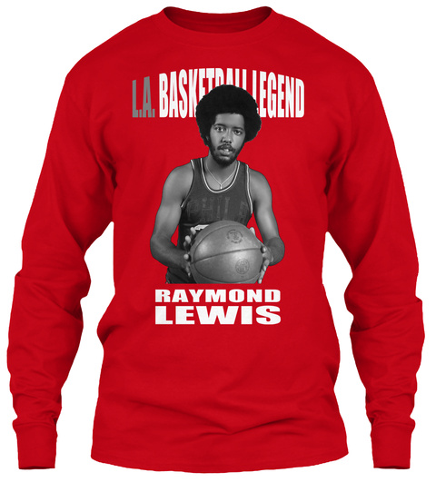 L.A. Basketball Legend T Shirt Red T-Shirt Front
