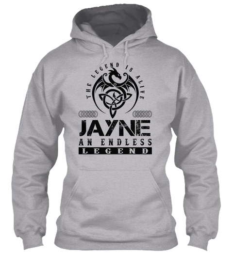 Jayne   Legends Alive Sport Grey T-Shirt Front