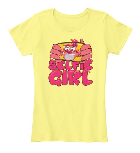 Selfie Girl Lemon Yellow Women's T-Shirt Front