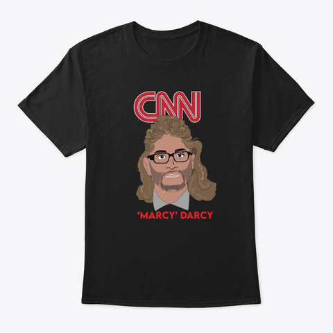"Oliver ""Marcy"" Darcy Cnn Black T-Shirt Front"