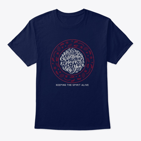 Keep The Spirit Alive Navy T-Shirt Front