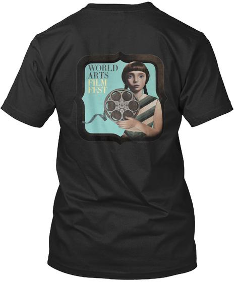 World Arts Film Festival Black T-Shirt Back