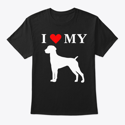I Heart My German Shorthaired Pointer  Black T-Shirt Front