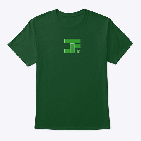 St Patricks Day Tetrad Art Logo Deep Forest T-Shirt Front