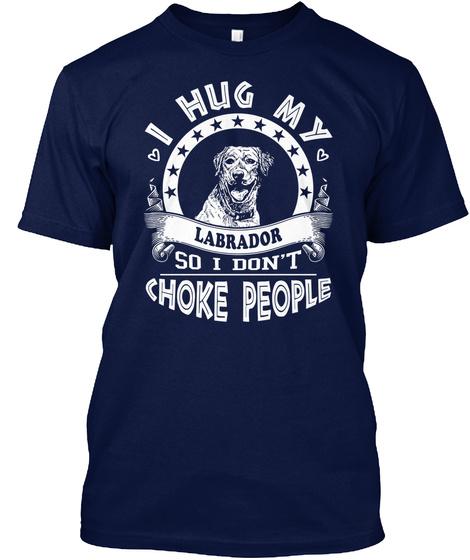 Labrador Navy T-Shirt Front
