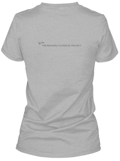 The Nouveau Classical Project Sport Grey Women's T-Shirt Back