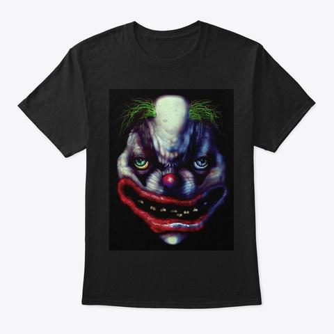 Bo Bo The Clown Full Color Black T-Shirt Front