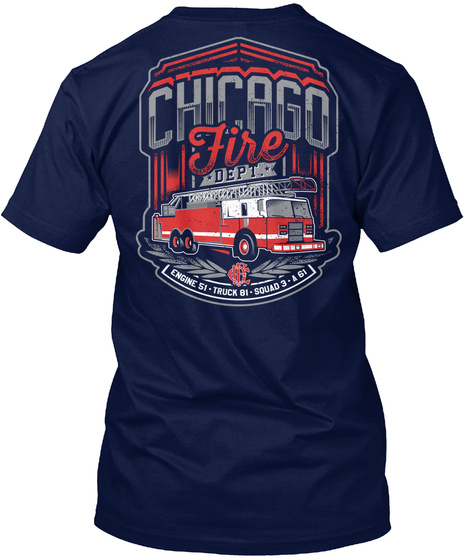 Friends Of Firefighters   Donation Drive Navy T-Shirt Back
