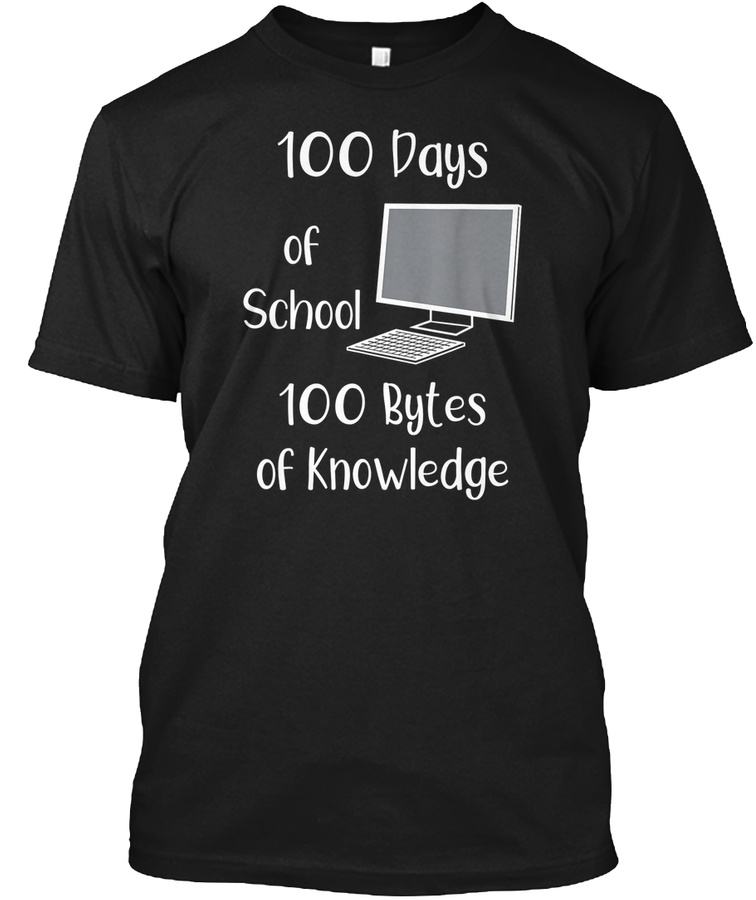 100 Days Of School Shirt For Computer Te Unisex Tshirt