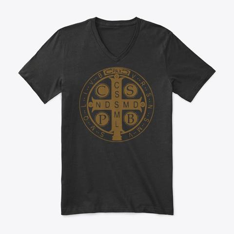 Saint Benedict Cross Black T-Shirt Front