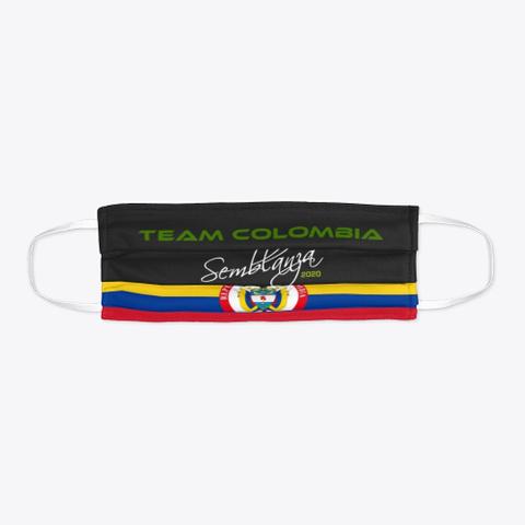 Team Colombia! Black T-Shirt Flat