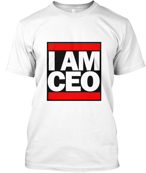 #Iamceo Tee White T-Shirt Front