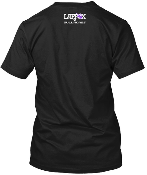 Lapfox X Gullaoass Black T-Shirt Back
