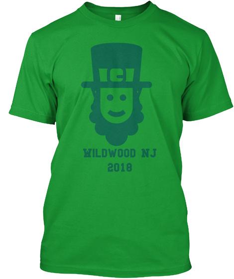 Wildwood Nj 2018 Kelly Green T-Shirt Front