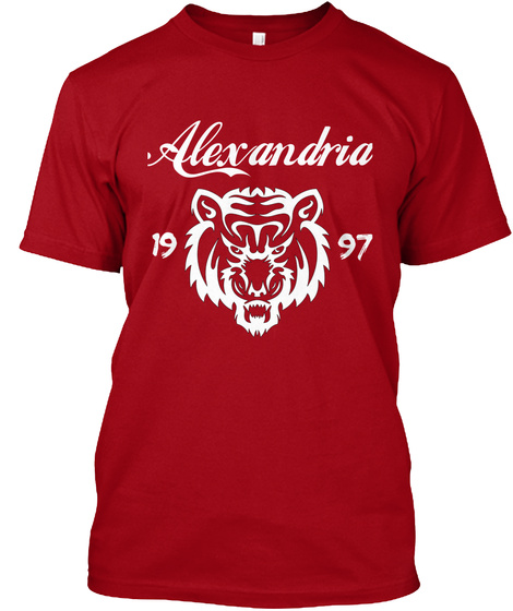 Alexandria 19 97 Deep Red T-Shirt Front