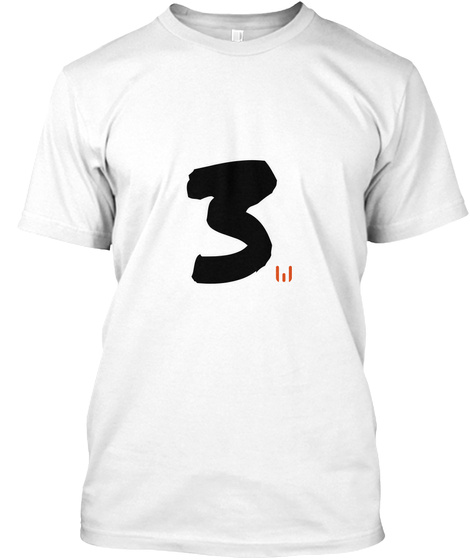 3 White T-Shirt Front