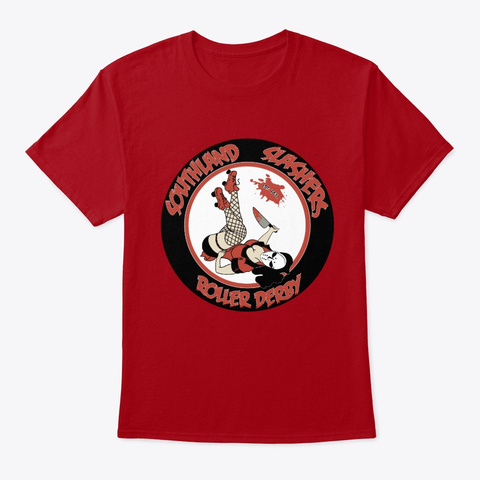 Southland Slasher Roller Derby Logo Deep Red T-Shirt Front