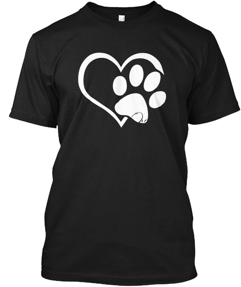 Cat Paw Love Shirt Limited Edition Black T-Shirt Front