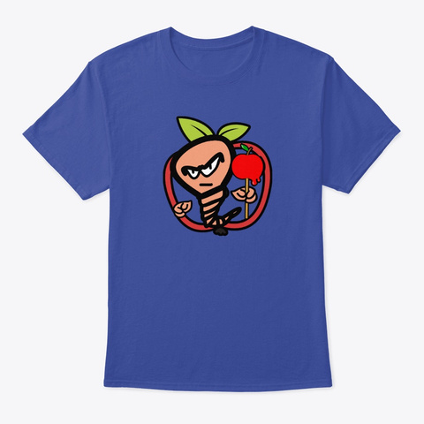The Worms Apple Deep Royal T-Shirt Front
