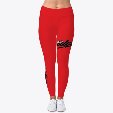 Ih Women's Leggings (Red) Red T-Shirt Front