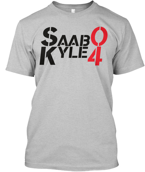 Saab 0 Kyle 4 Light Heather Grey  T-Shirt Front