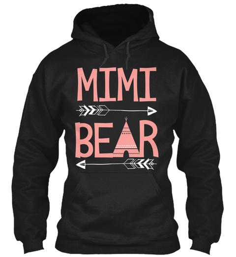 Mimi Bear Black T-Shirt Front