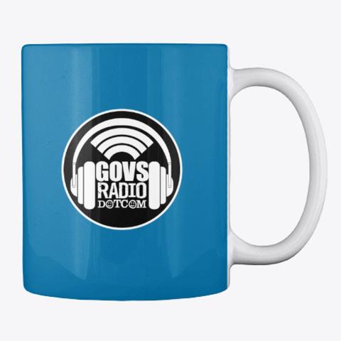 Three's Company   Govs Radio   Mug Royal Blue T-Shirt Back