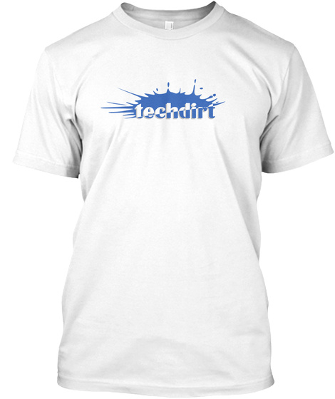 Techdirt White T-Shirt Front