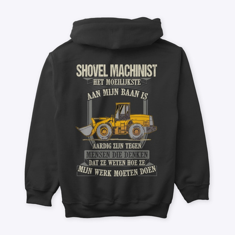 Shovel Machinist Black T-Shirt Back