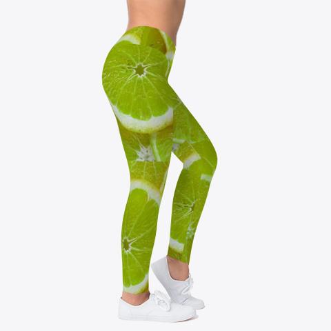 Green Lemon Leggings Standard T-Shirt Right