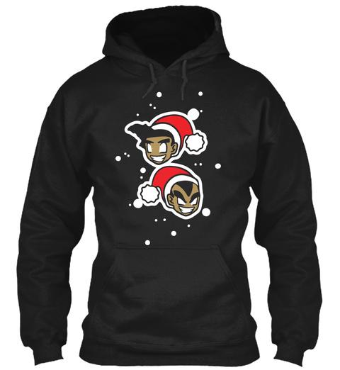 Froku And Napgeta Christmas Hoody! Black T-Shirt Front