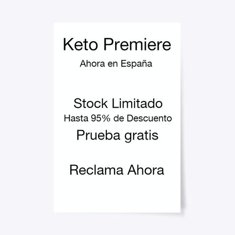 Keto Premiere Spain   Recensioni  Standard T-Shirt Front