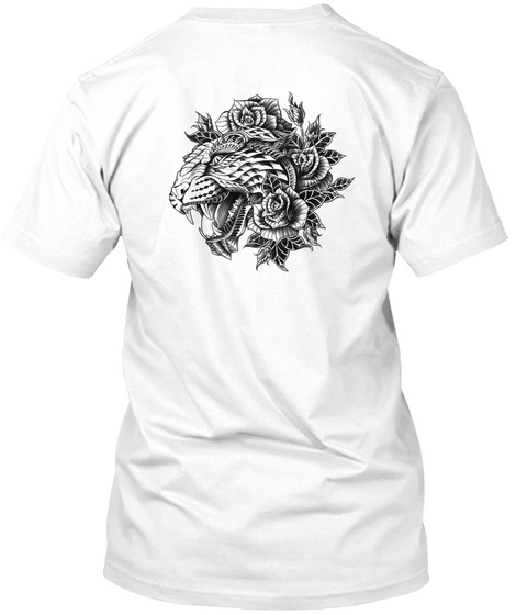 Beautyful Tiger White T-Shirt Back