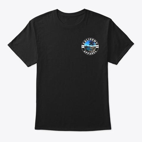 Point Lobos Cali Gent Shield Black T-Shirt Front