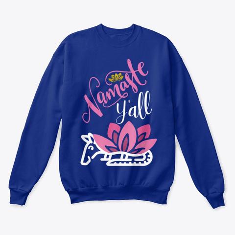 Lotus Armadillo Namaste Y'all Deep Royal  T-Shirt Front